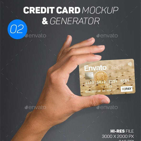 Card Mockup & Generator 02