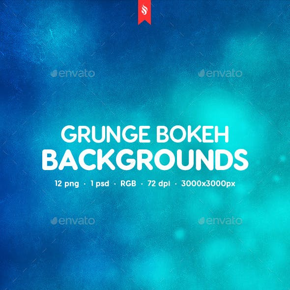 Grunge Blurred Bokeh Backgrounds