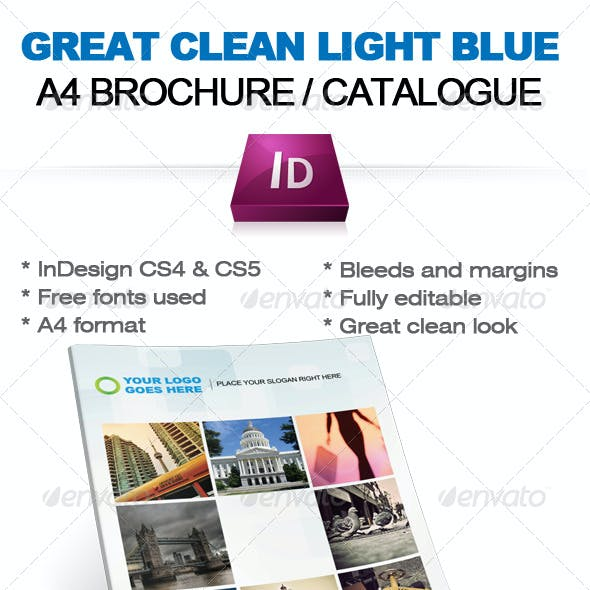 Light blue Business Brochure / Catalogue (A4)