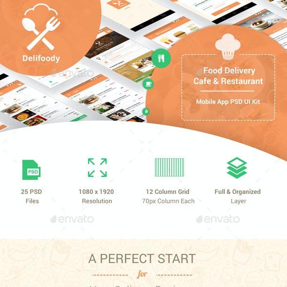 Delifoody | Food Delivery & Restaurant Mobile UI Kit