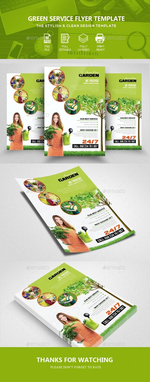 Garden & Plantation Services Flyer Template - Corporate Flyers