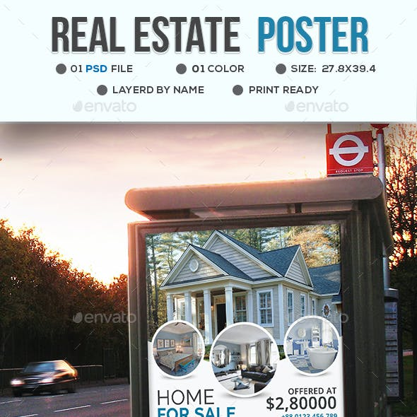 Real Estate Poster Tamplate