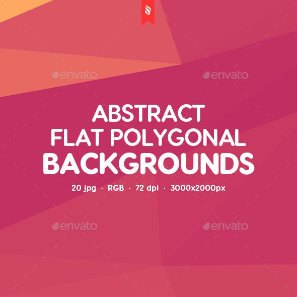 Abstract Flat Polygonal Geometric Backgrounds