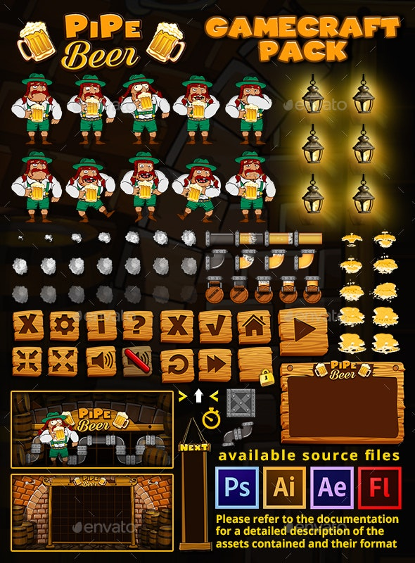 PipeBeer Game Assets - Game Kits Game Assets