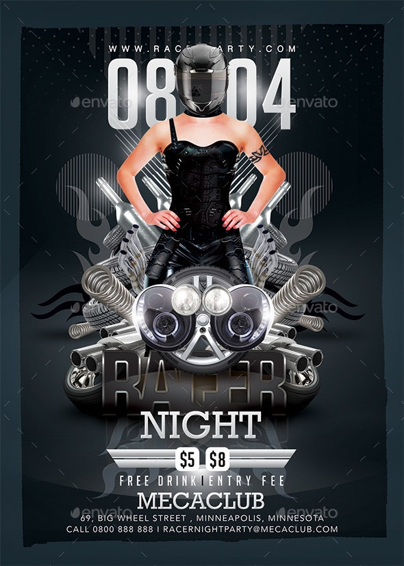Racer Mechanics Night - Clubs & Parties Events