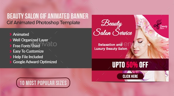 Beauty Salon Animated Gif Banner By Impassioned Graphicriver