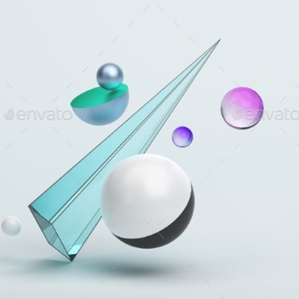 Abstract 3D Rendering of Geometric Shapes