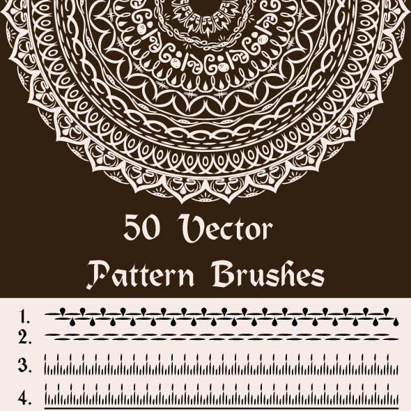 50 Vector Pattern Brushes for Illustrator