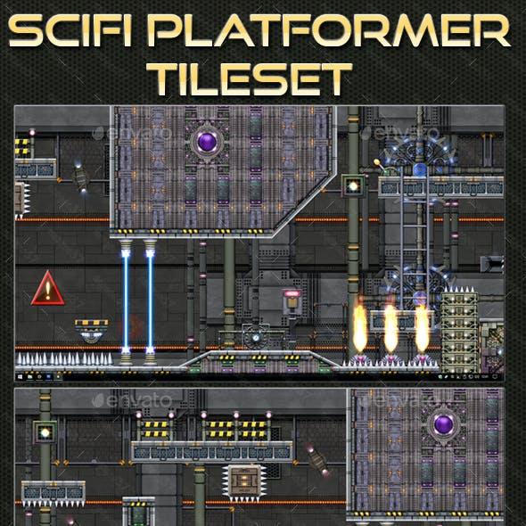 Sci-fi Platform Tileset