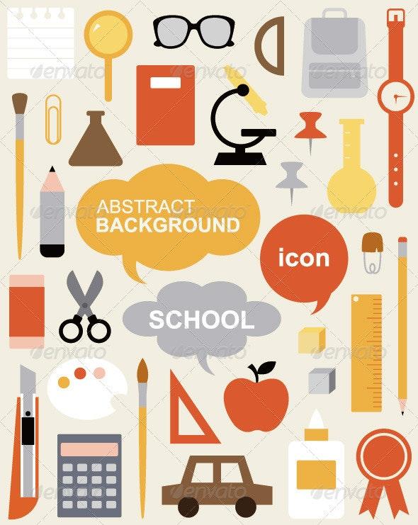 Icon Set - Education - Abstract Conceptual