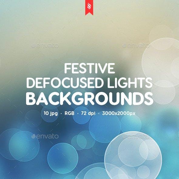 Festive Defocused Lights Backgrounds