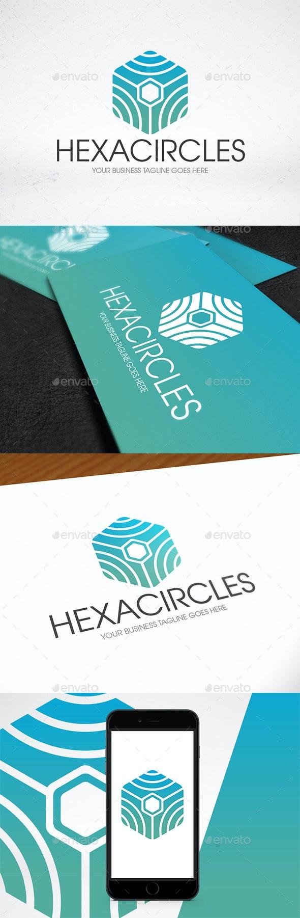 Circle Lines Hexagon Logo