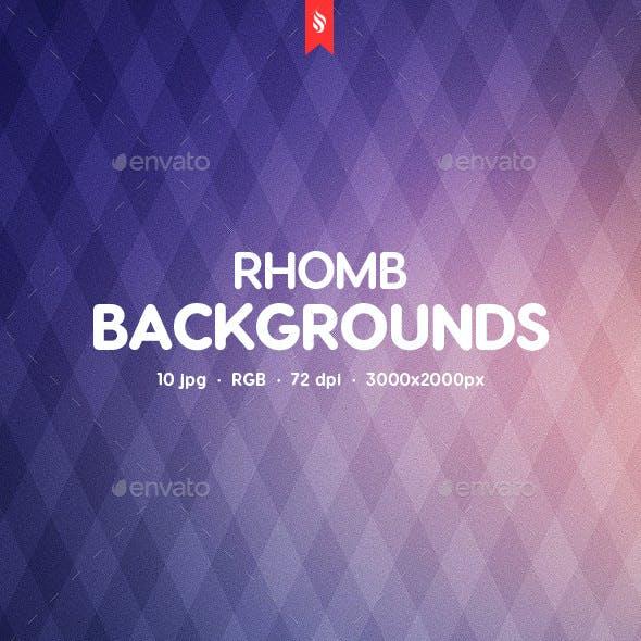 10 Rhomb Backgrounds