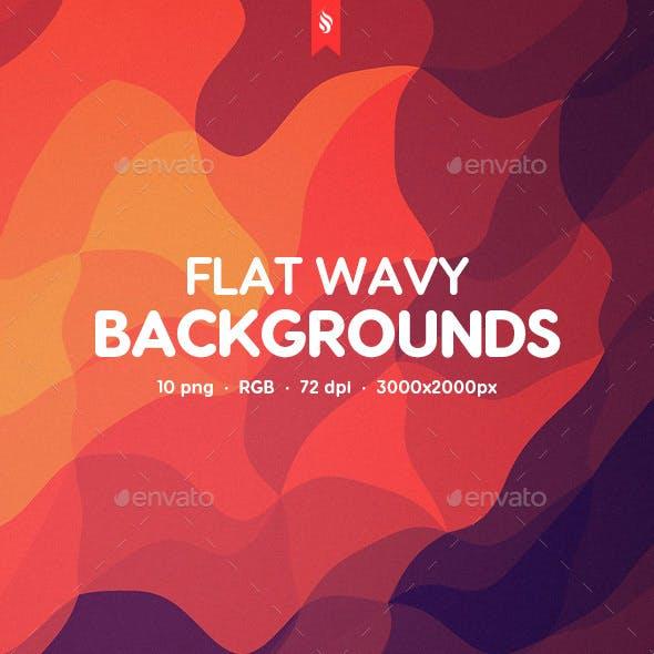 Flat Wavy Backgrounds