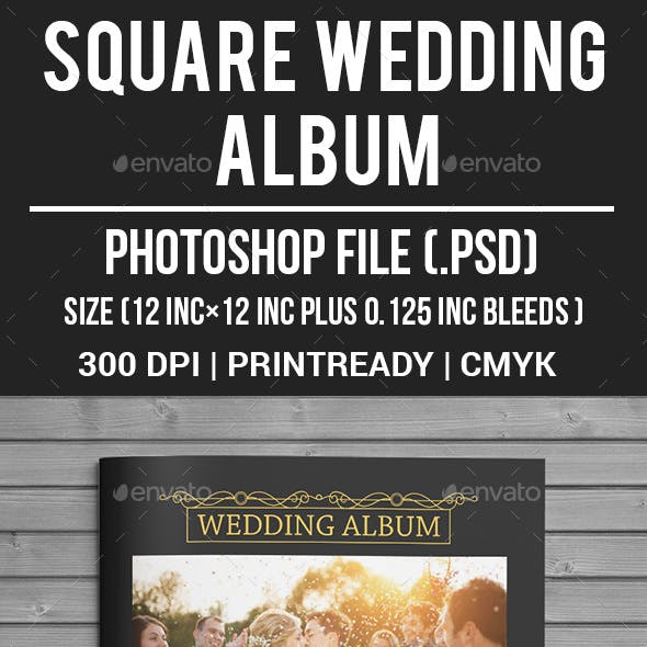 Square Wedding Album
