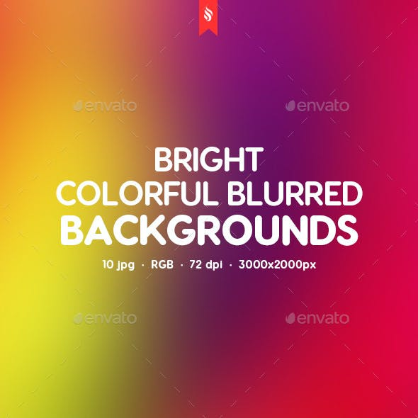 Bright Colorful Blurred Backgrounds by themefire