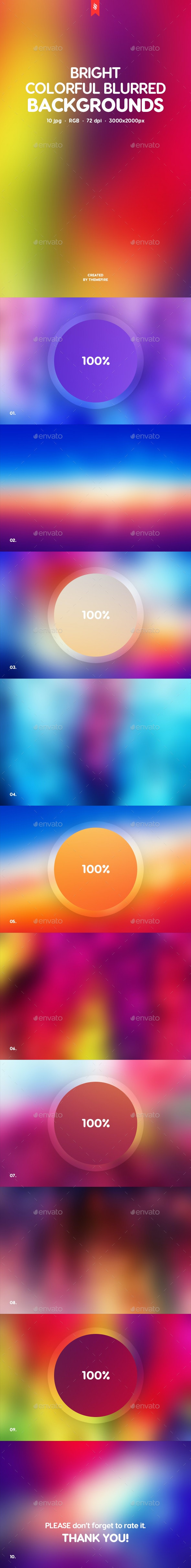 Bright Colorful Blurred Backgrounds - Backgrounds Graphics