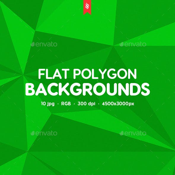 Abstract Flat Polygon Backgrounds