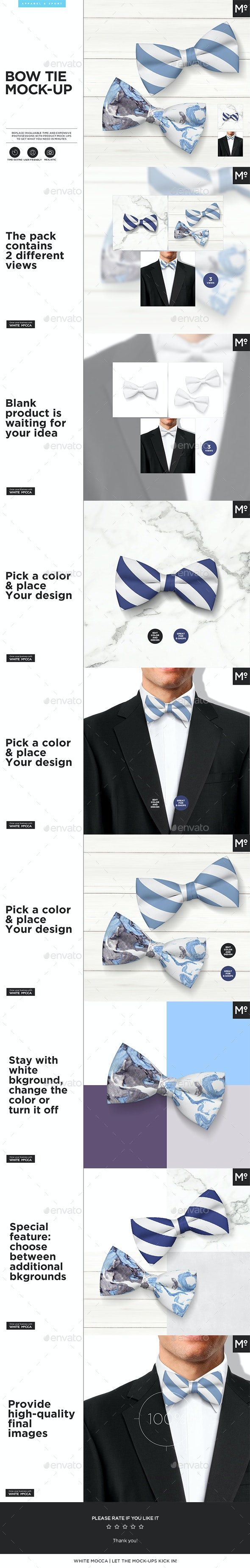 Bow Tie Mock-up - Miscellaneous Apparel