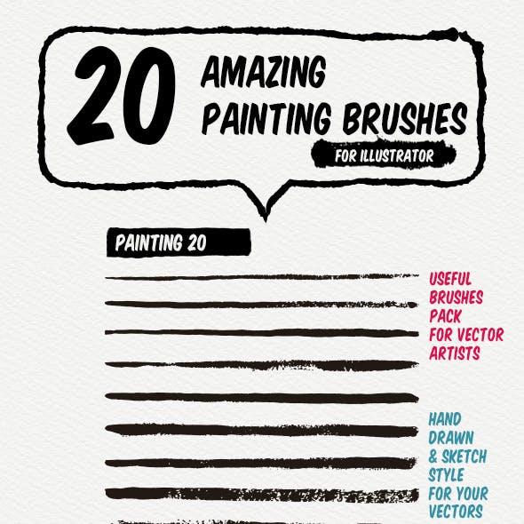 20 Painting Art Brushes