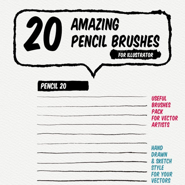 20 Pencil Art Brushes