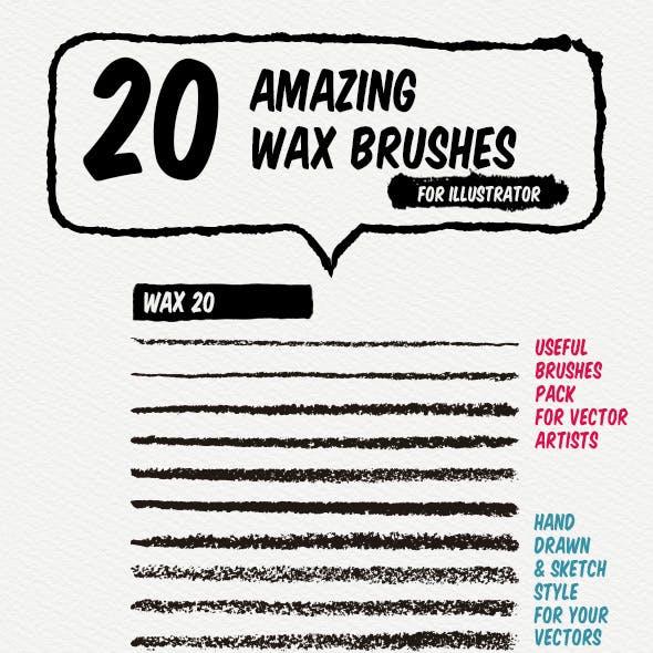 20 Wax Art Brushes