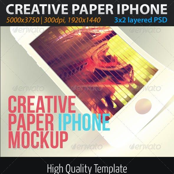 Creative Paper Phone Mockup