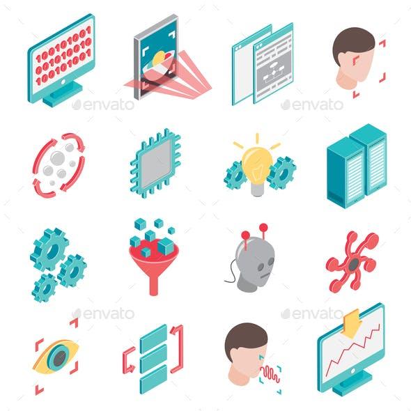 Neural Network Icon Set