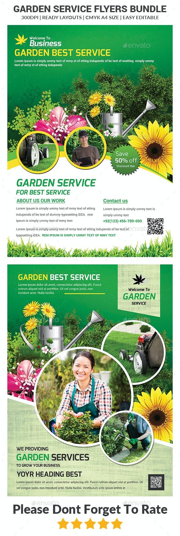 Garden Services Flyers Bundle - Corporate Flyers