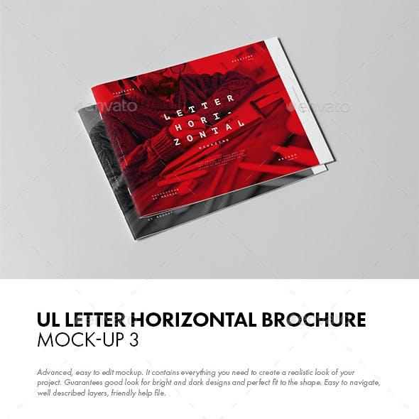 US Letter Horizontal Brochure Mock-up 3