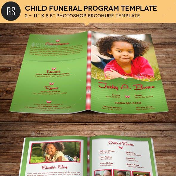 Child Funeral Program Template Photoshop