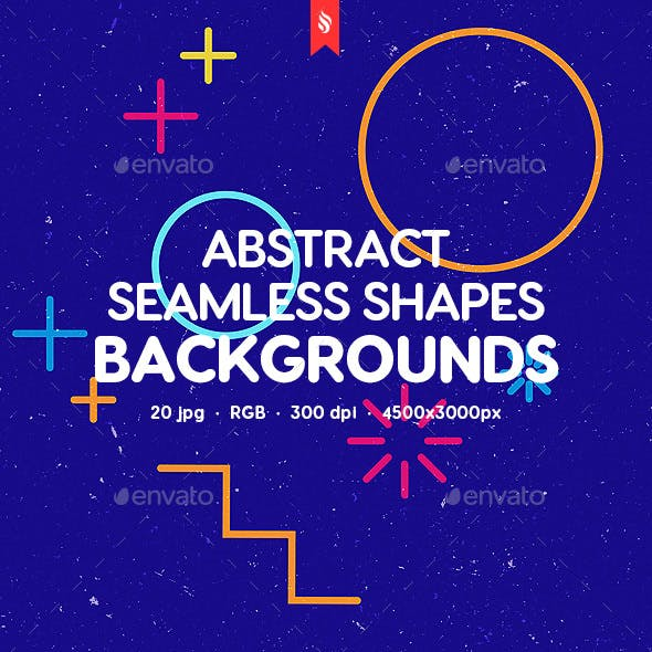 Abstract Seamless Shapes Backgrounds