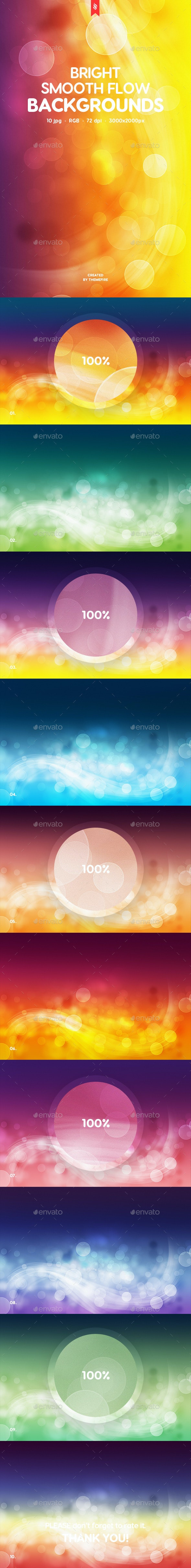 Abstract Bright Smooth Flow Backgrounds - Abstract Backgrounds