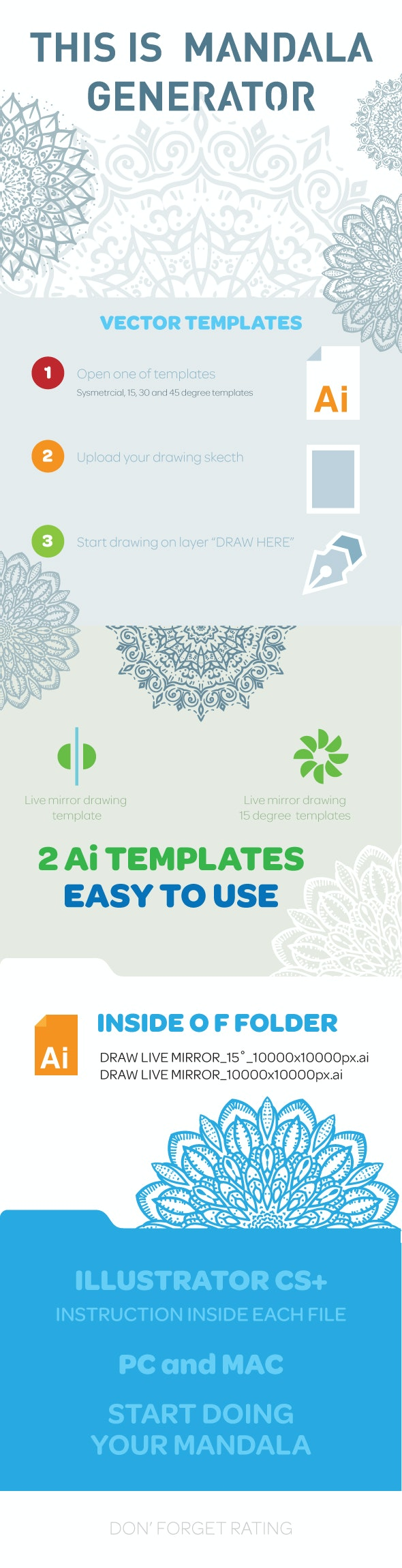 Mandala and Face Generator - Illustrator Add-ons