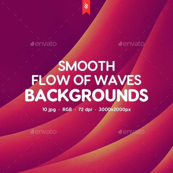 Abstract Smooth Flow of Waves Backgrounds