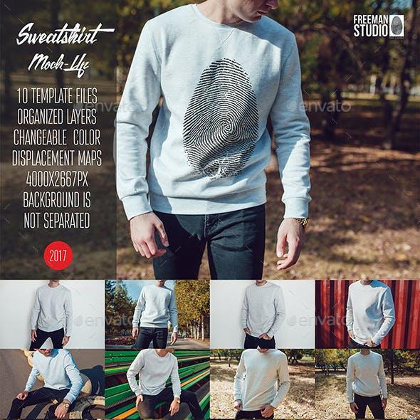 Men's Sweatshirt Mock-Up Vol.1 2017