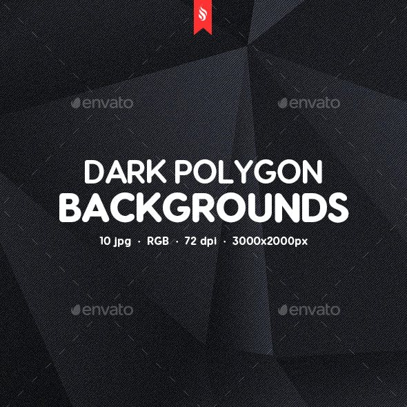 Abstract Dark Polygon Backgrounds