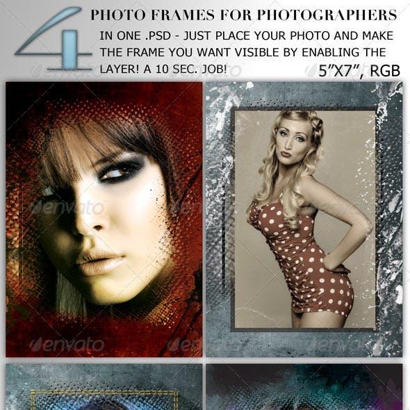 "5""x7"", 300dpi, RGB Photo Frame for Photographers"