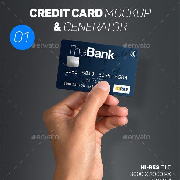 Card Mockup & Generator 01