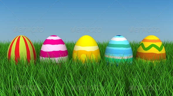 Easter Eggs - 3D Backgrounds