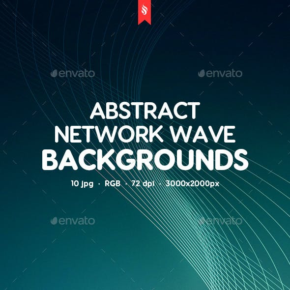 Network Wave Backgrounds
