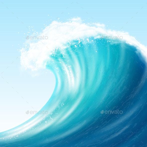 Realistic Sea Wave - Landscapes Nature