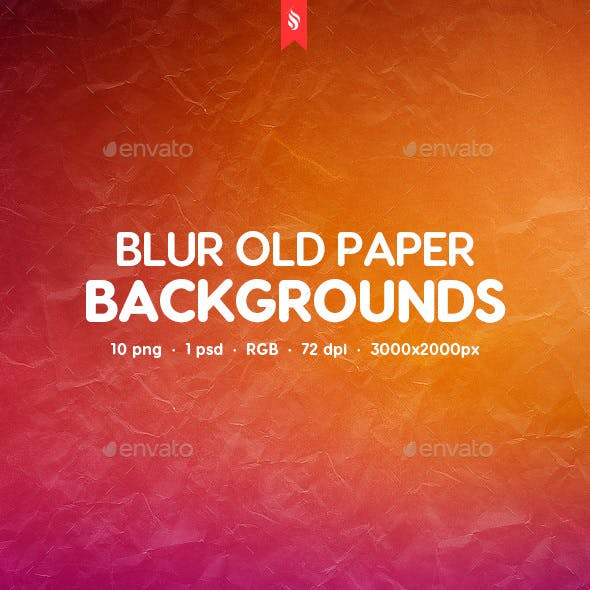 Blurred Old Paper Backgrounds