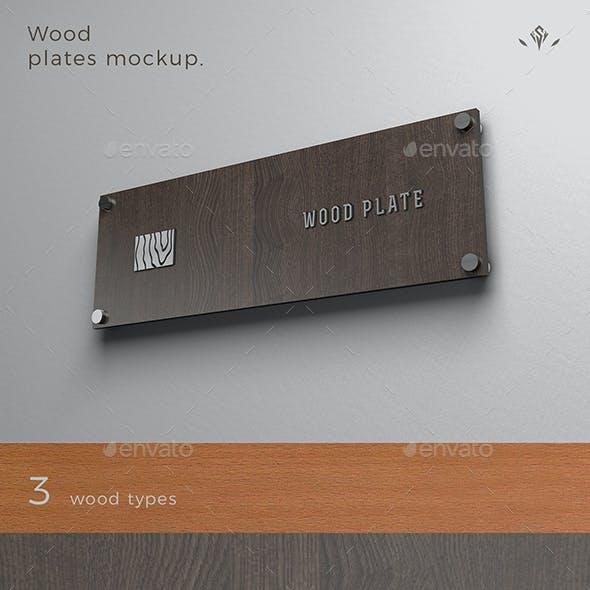 Wood Plate Mockup