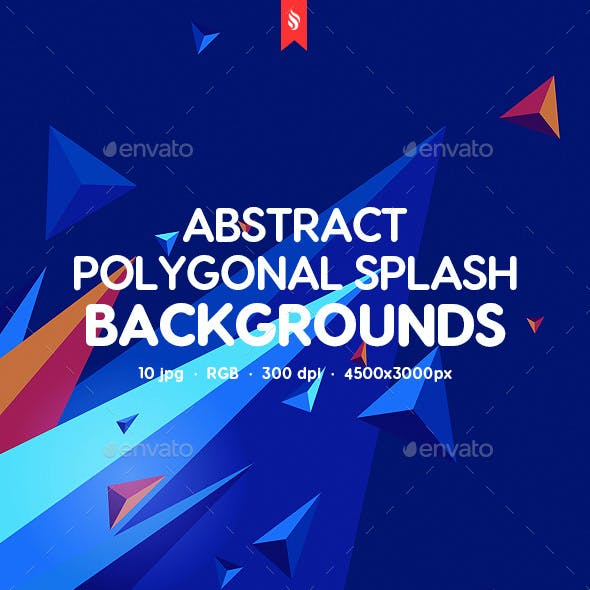 Polygonal Splash Backgrounds