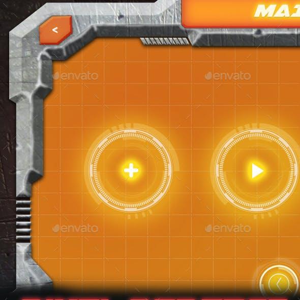 Concrete 2 - Realistic and Sci-Fi Game UI