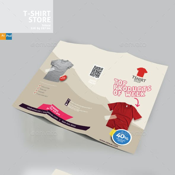 T-Shirt Store Trifold