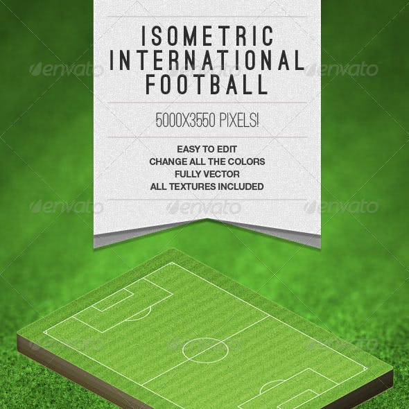 Isometric International Football Field