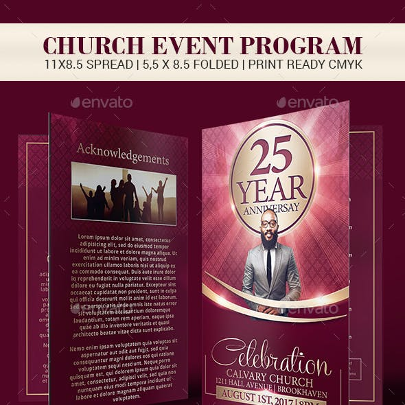 Church Anniversary Brochure Template
