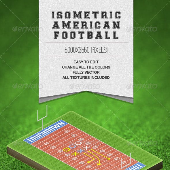 Isometric American Football Field